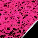 Loom Twister Bands, Elastic rubber, Magenta, 300 Bands Per Pack, 1.4mm, [XPJ0015]